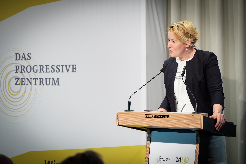 Keynote by Franziska Giffey. Picture: Jakob&Alex, 2018