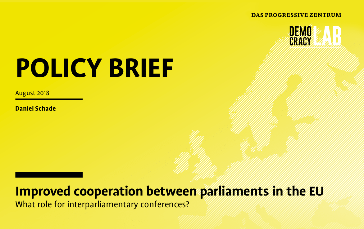 Cover: Improved cooperation between parliaments in the EU by Daniel Schade